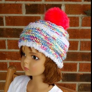 Speckled Sherbet Pom Toddler Cap - Sized 1-5 Years